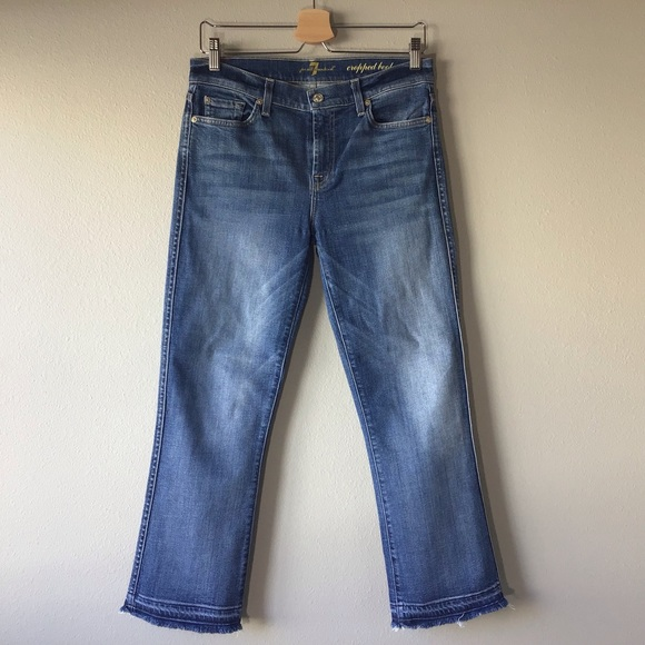 7 For All Mankind Denim - 7 FOR ALL MANKIND Cropped Boot Jeans -Size 29